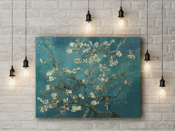 Vincent Van Gogh: The Blossoming Almond Tree. Fine Art Canvas.
